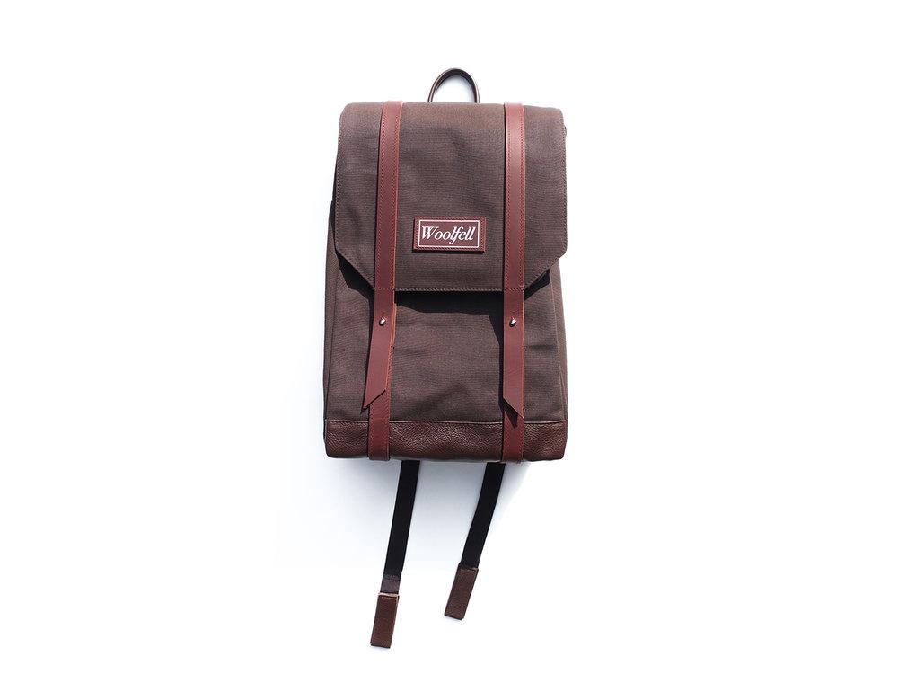 Chocolate brown 'Warrior' backpack