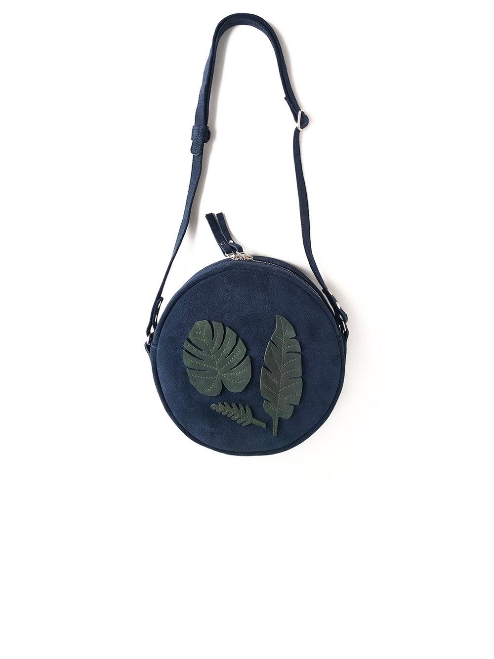 Leaves appliqué Orbit handbag - 200.00$