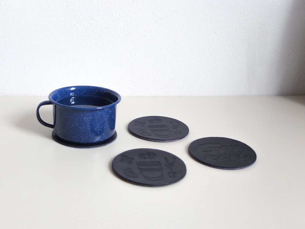 Leather coasters - 15.00$ 2̶0̶$̶