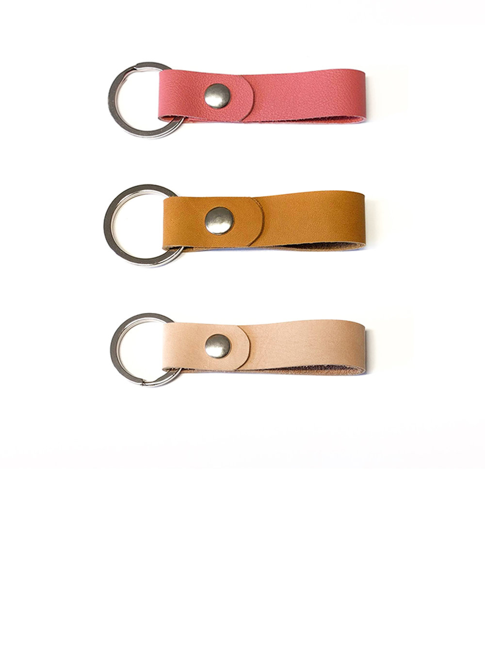 Leather keychains - more colors available10.00$