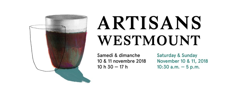 Artisans Westmount @ Victoria Hall, 4626, rue Sherbrooke Ouest 10-11 Nov. 10:30 am – 5 pm