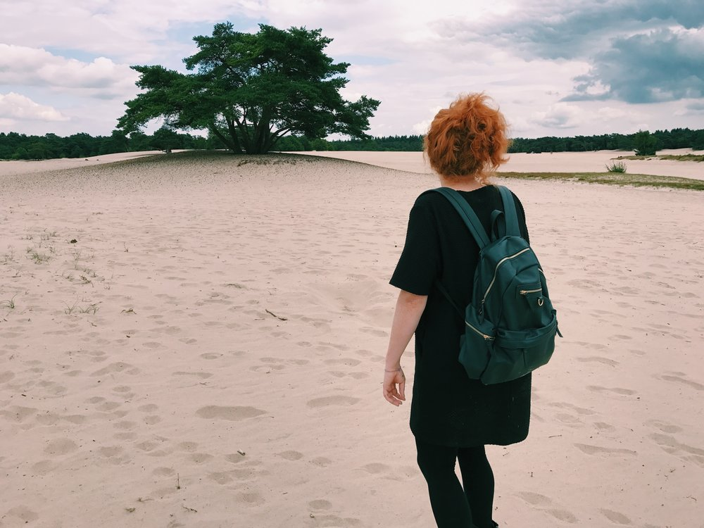 I'm half tempted to put only pictures of Yvonne in this blog just to be weird. Hahaha. (This is at the dune area I talk about in a few paragraphs)