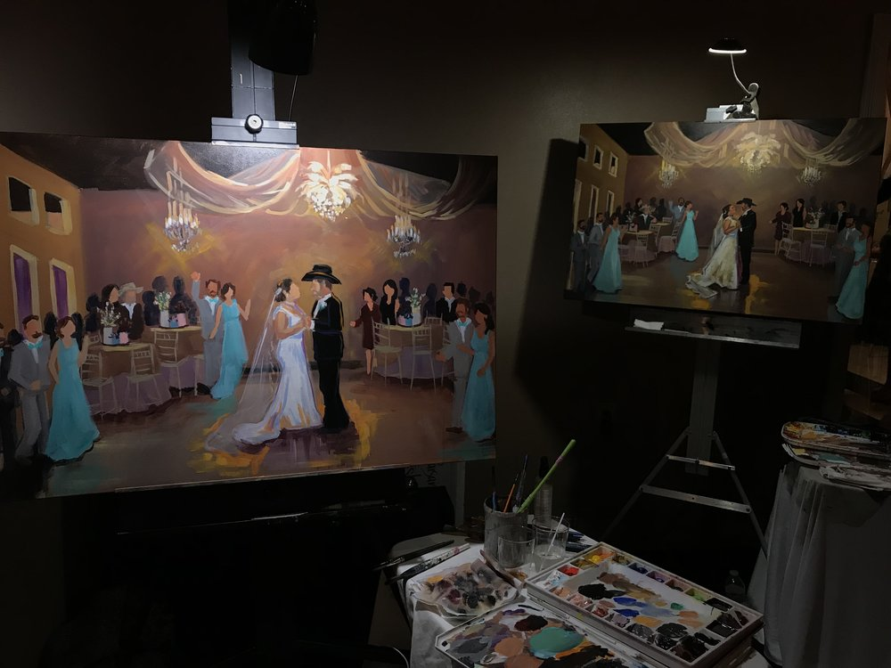 She's training me to paint in her style so that people can hire me as a Second Painter! And then later on I'll do my own style of wedding painting also.