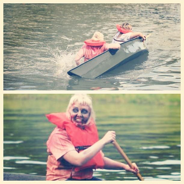 Oh and also one time I dressed as a zombie and took a pirogue down the bayou for a contest and we tipped over. lol