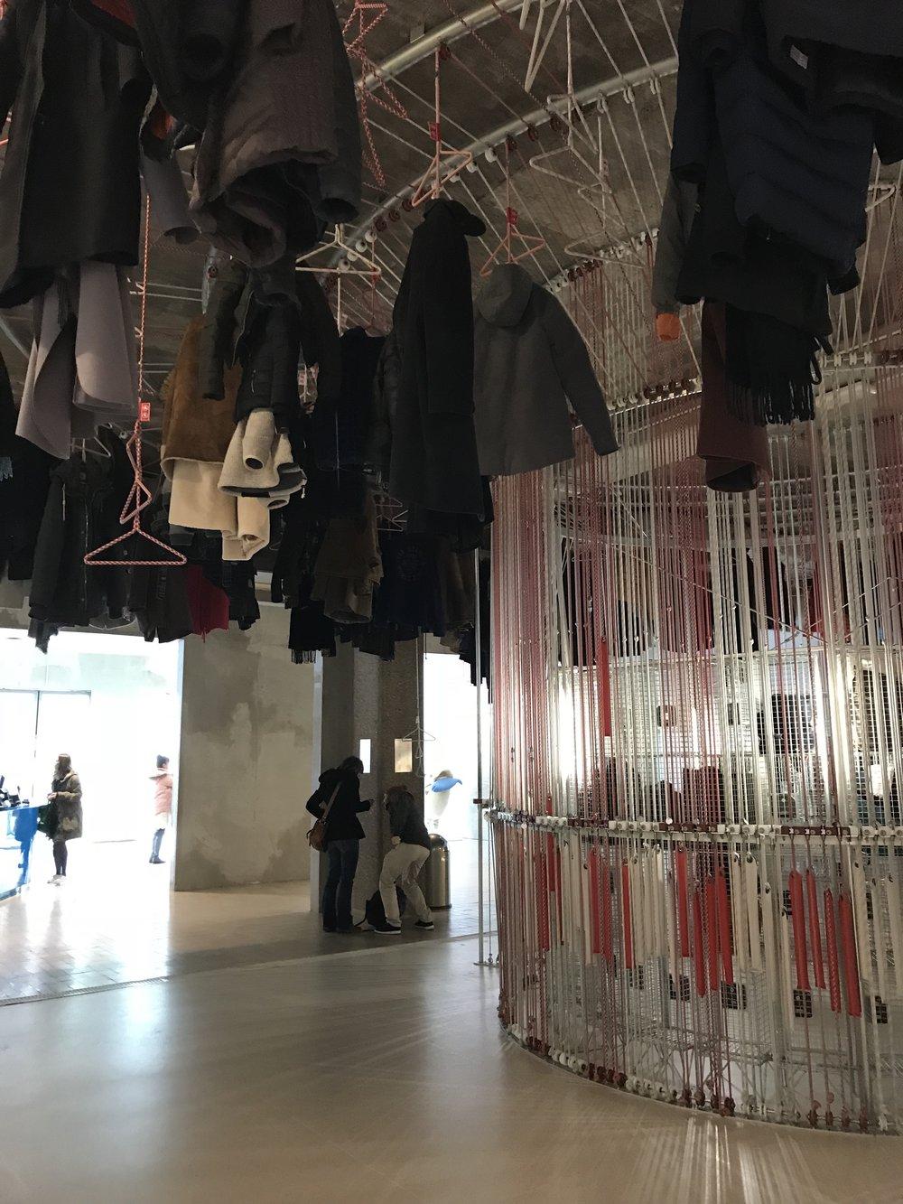 Super rad coat hanging installation.