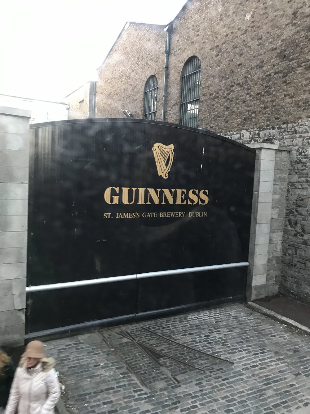 This photo is especially hilarious because of our tour bus driver. He said we could get a great photo of the Guiness gate that makes an appearance in commercials. He said normally there are a million tourists in front of it, but he would act like he was going to be turning and swerve into the area and everyone will get out of the way for us to take THAT PHOTO. ** dead**