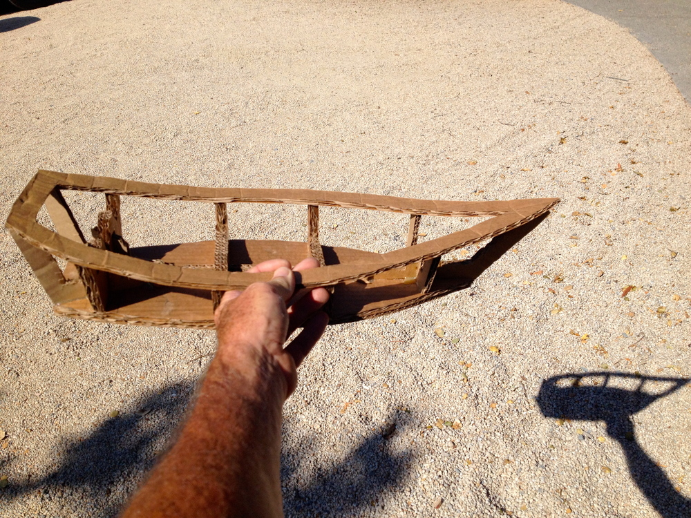 Here is a cardboard model to figure out boat construction.