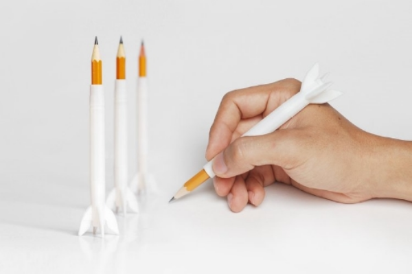 Rocket Pencil Extender    by FORMBYTE