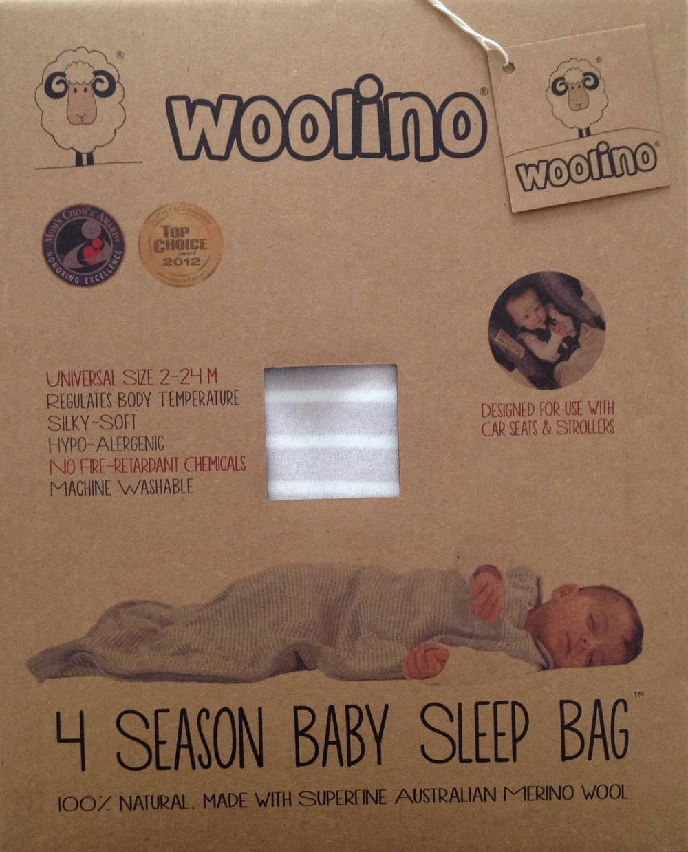 Woolino provided a sleep sack for me to review.