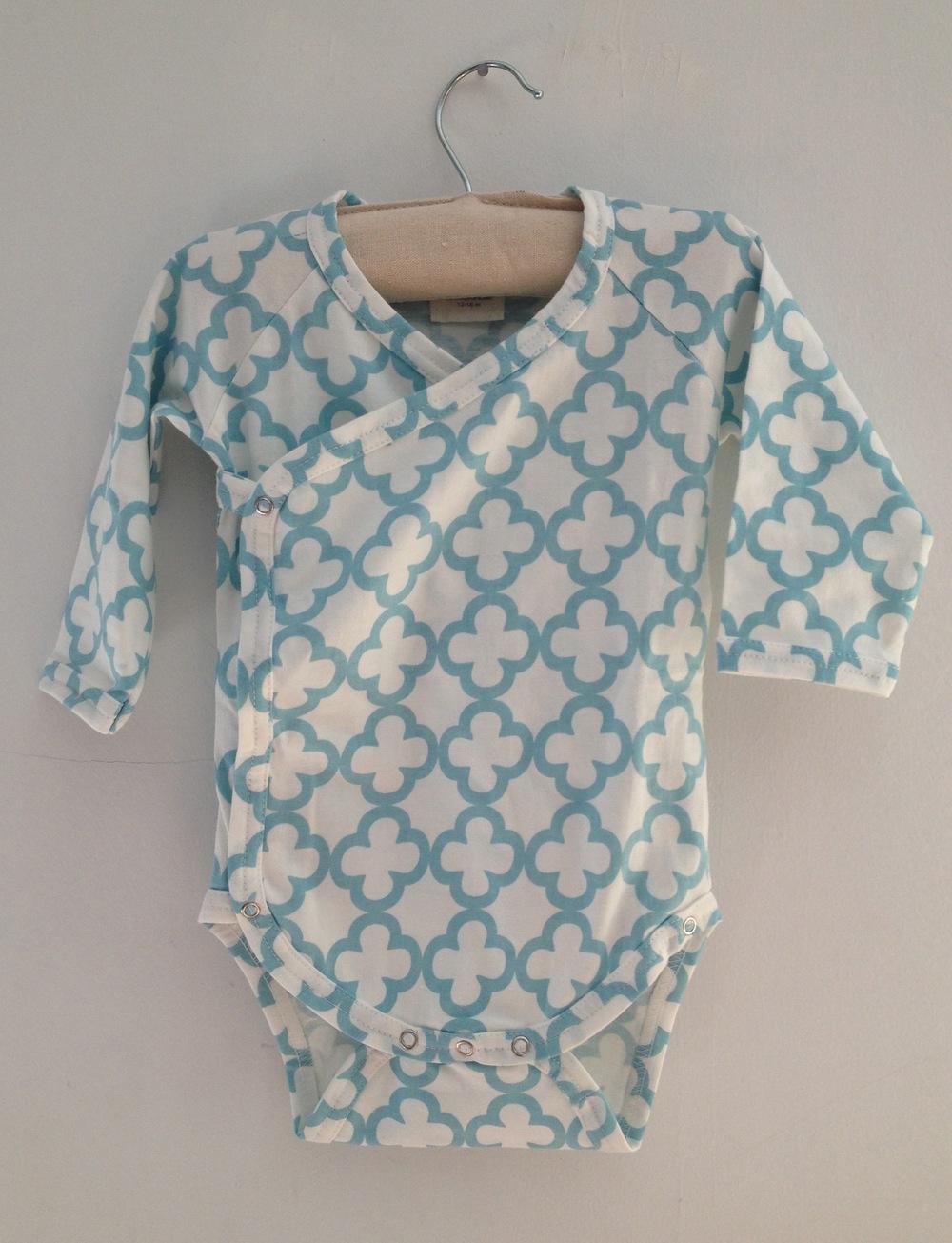 Kimono bodysuit, 100% organic cotton