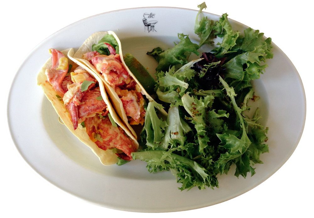 When in Maine, eat lobster...in my case, lobster tacos at Stonewall Kitchen.  York, ME