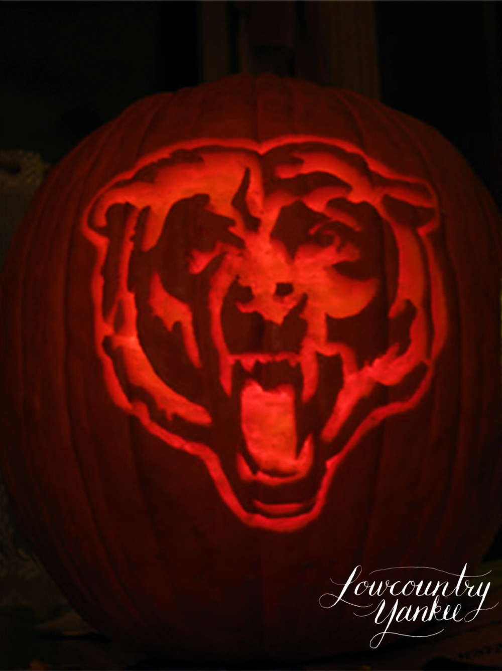 Chicago Bears pumpkin, 2006