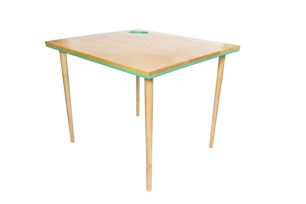 The Ali-Sandifer Table (2015) Hard Maple, Milk Paint