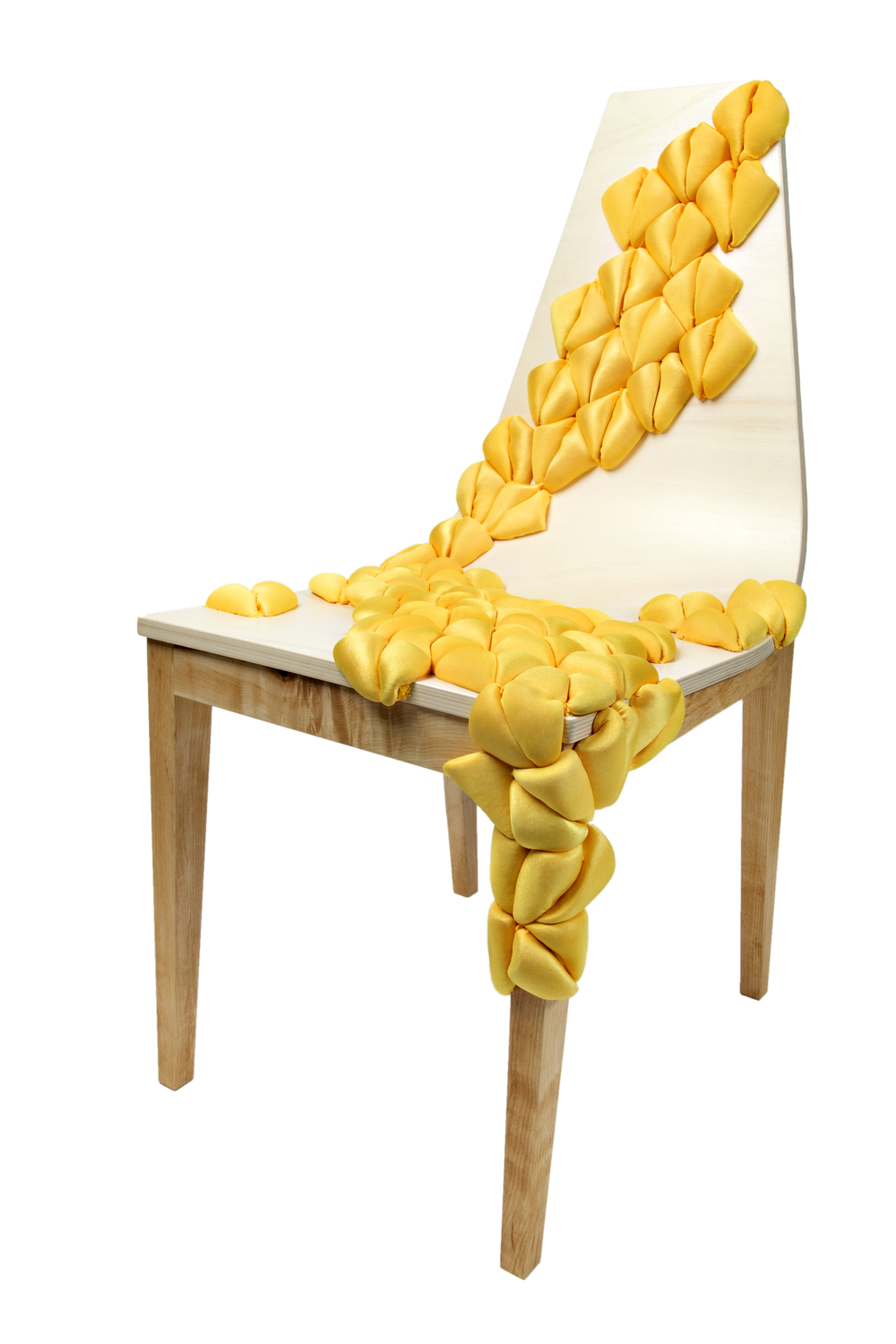 The Annie Chair (2015) Soft Maple, Bent Plywood, Spandex Upholstery