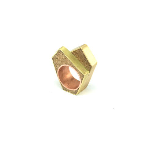 Ring01_Cork, Copper, Brass (2016)