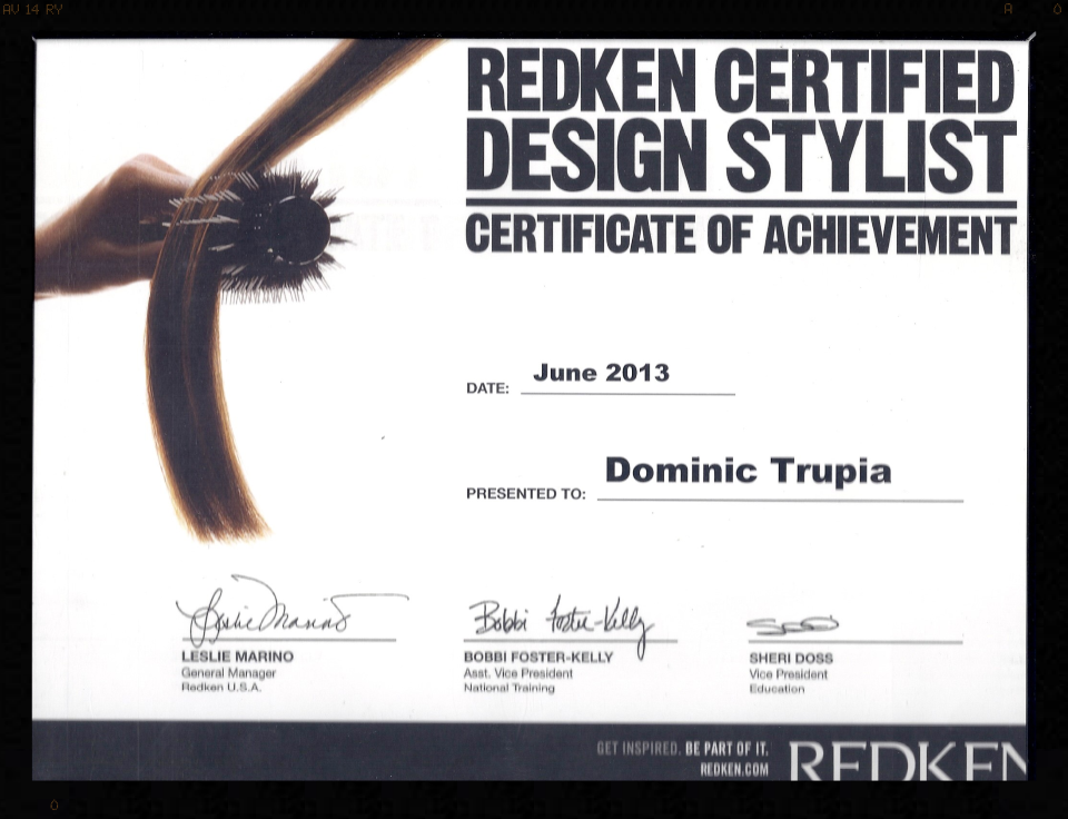 Redken Certified Design Stylist
