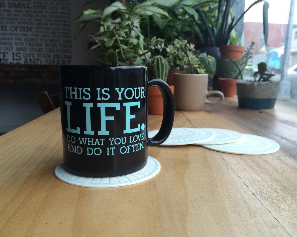 Coasters + Mug