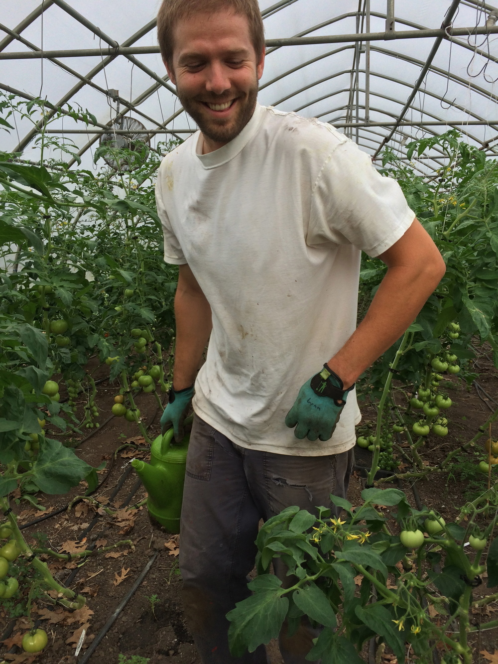 Ryan Chin- Wise guy/Farmhand/Seasonal Volunteer   During the year Ryan is an inspirational educator at a local high school. His leadership skills and enthusiasm are an asset to us at the farm. A hard worker, Ryan volunteers at the farm when school is out. With a natural love for gardening and the natural world, Ryan has been volunteering and learning from Mr. Holbrook for almost a decade. He is a major part of the farm and we love him.