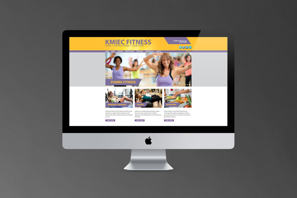 Kmiec Fitness // Website