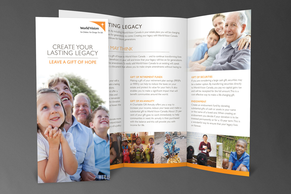World Vision Canada // Planned Giving Brochure