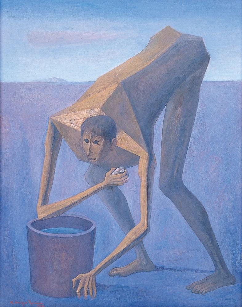 Carlos-Orozco-Romero_Pescador-en-la-playa_1960