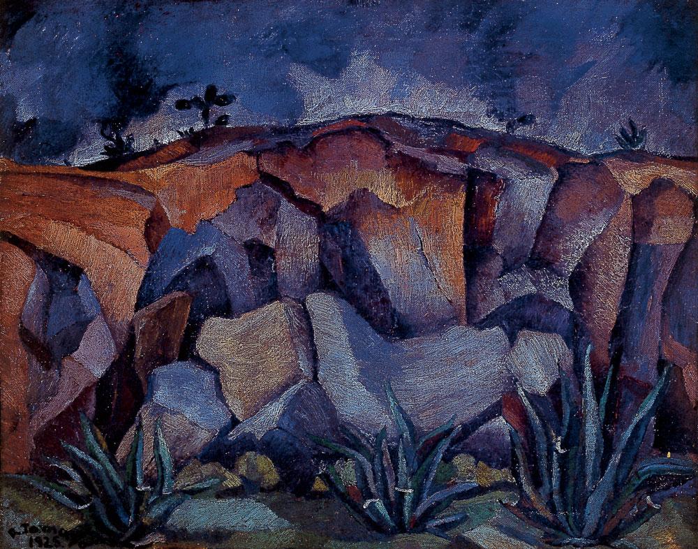 Rufino-Tamayo_Paisaje-con-rocas_1925