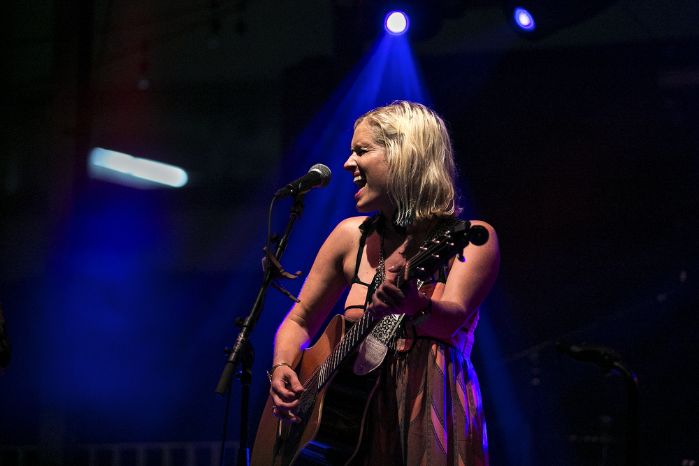 Amyl Rankin of The Rankin Twins performs during an iHeartRadio-sponsored show at The Belmont in Austin, Texas on July 15, 2014.