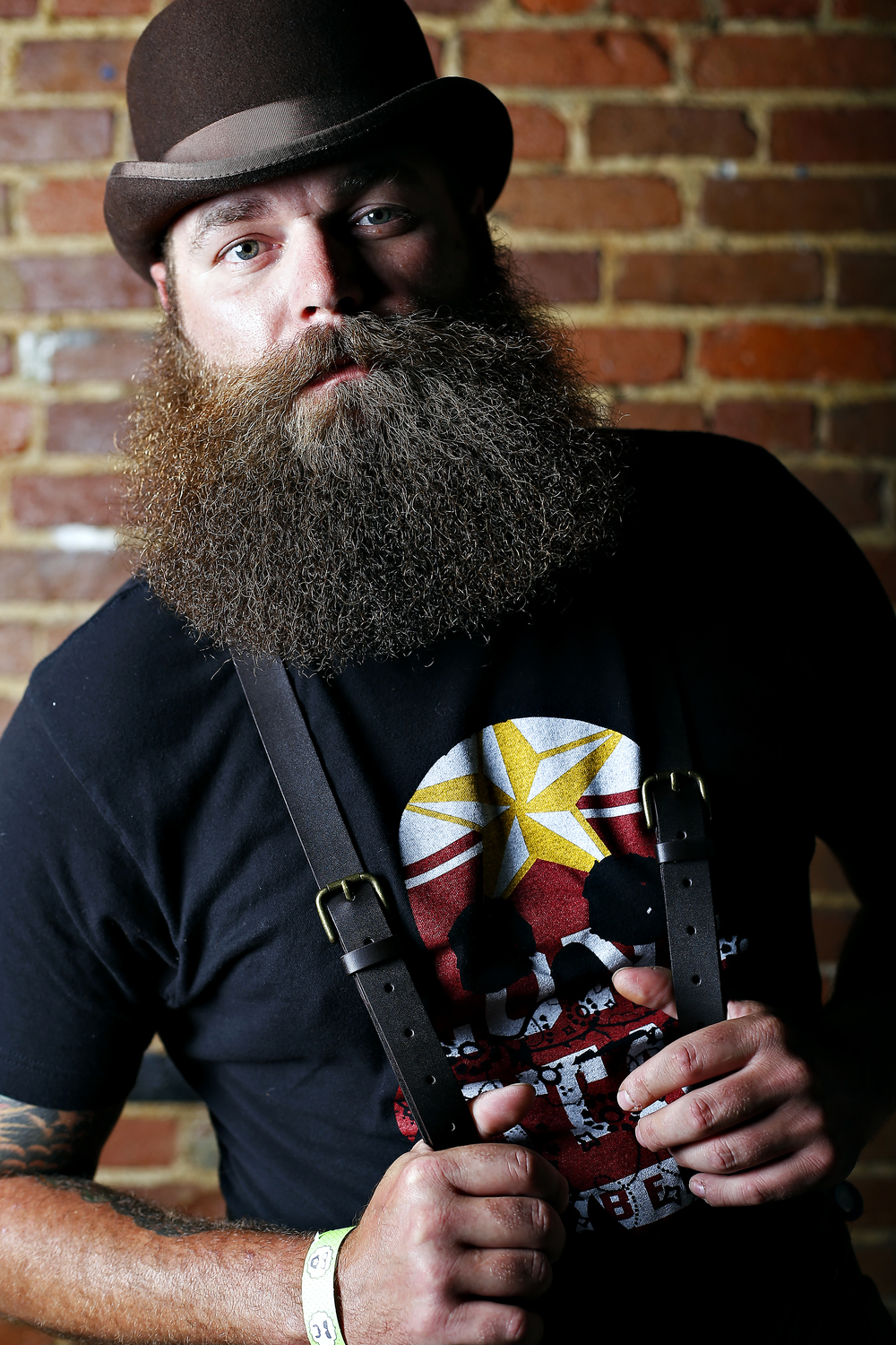 Quinton Catfish Crocker of Austin, Texas. Competing in Full Beard, Styled Moustache category.