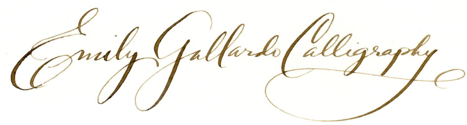 Emily Gallardo - Boston Calligrapher