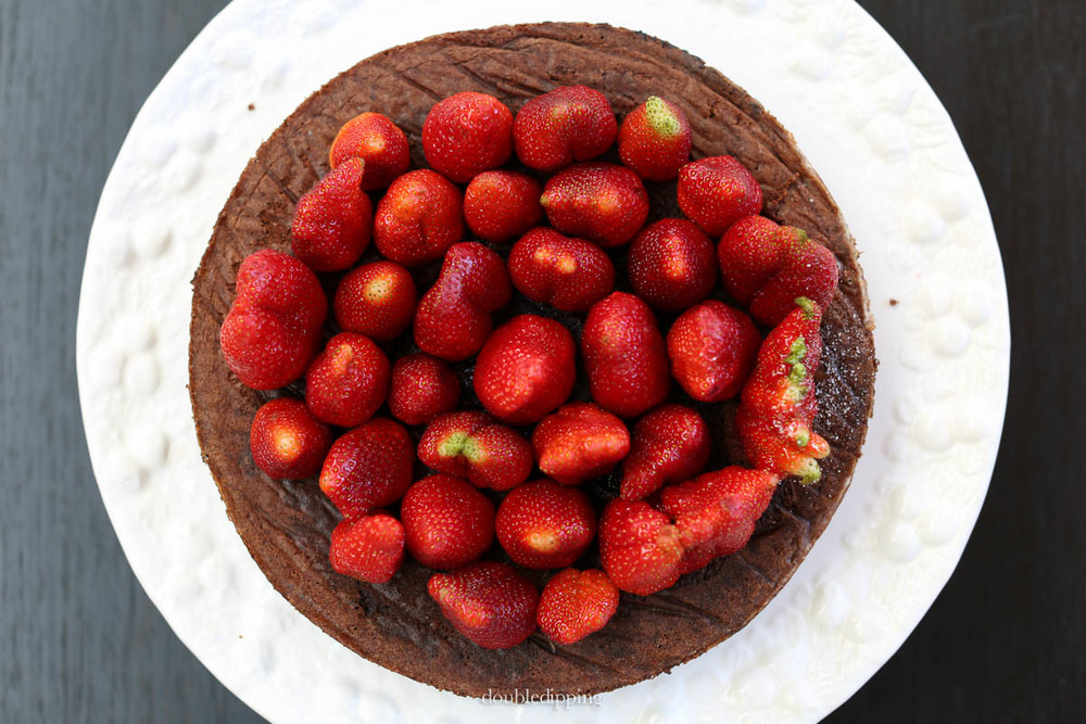 Strawberries and Chocolate Cake