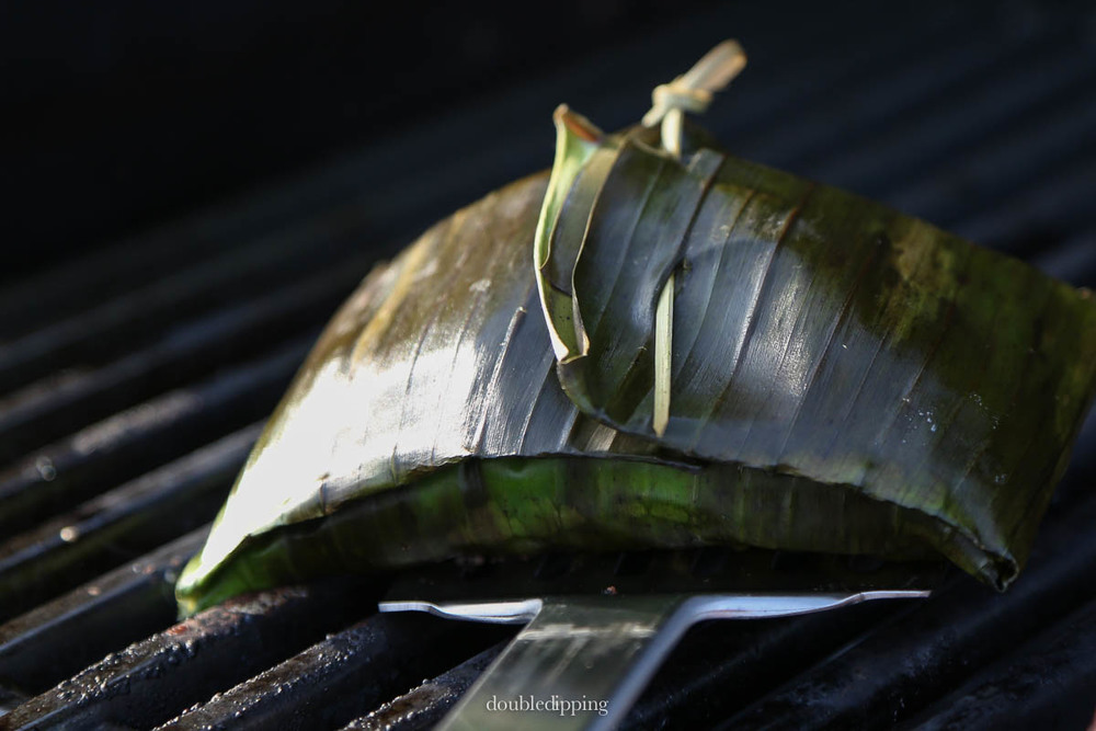 Miso Codfish in Banana Leaf