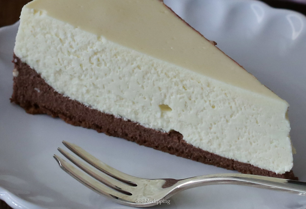 The cake is soft and moist and rich and delicious and did not crack when baked.