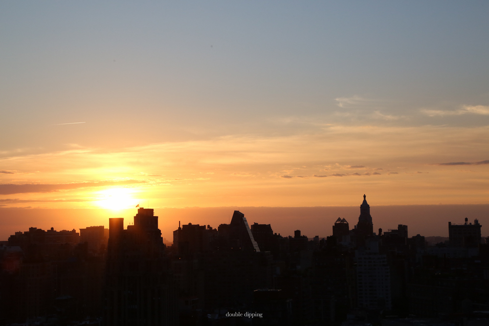 And a sunrise over NY's sea of rooftops
