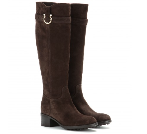 A brown suede leather boot is a must for fall, love the rubber sole!