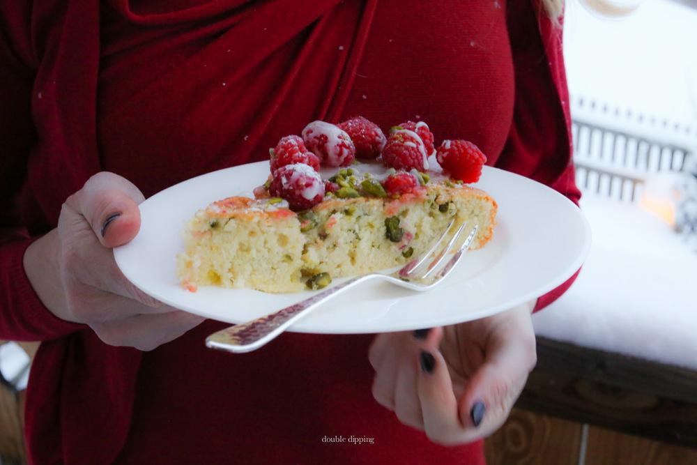 Pistachio Raspberry Cake