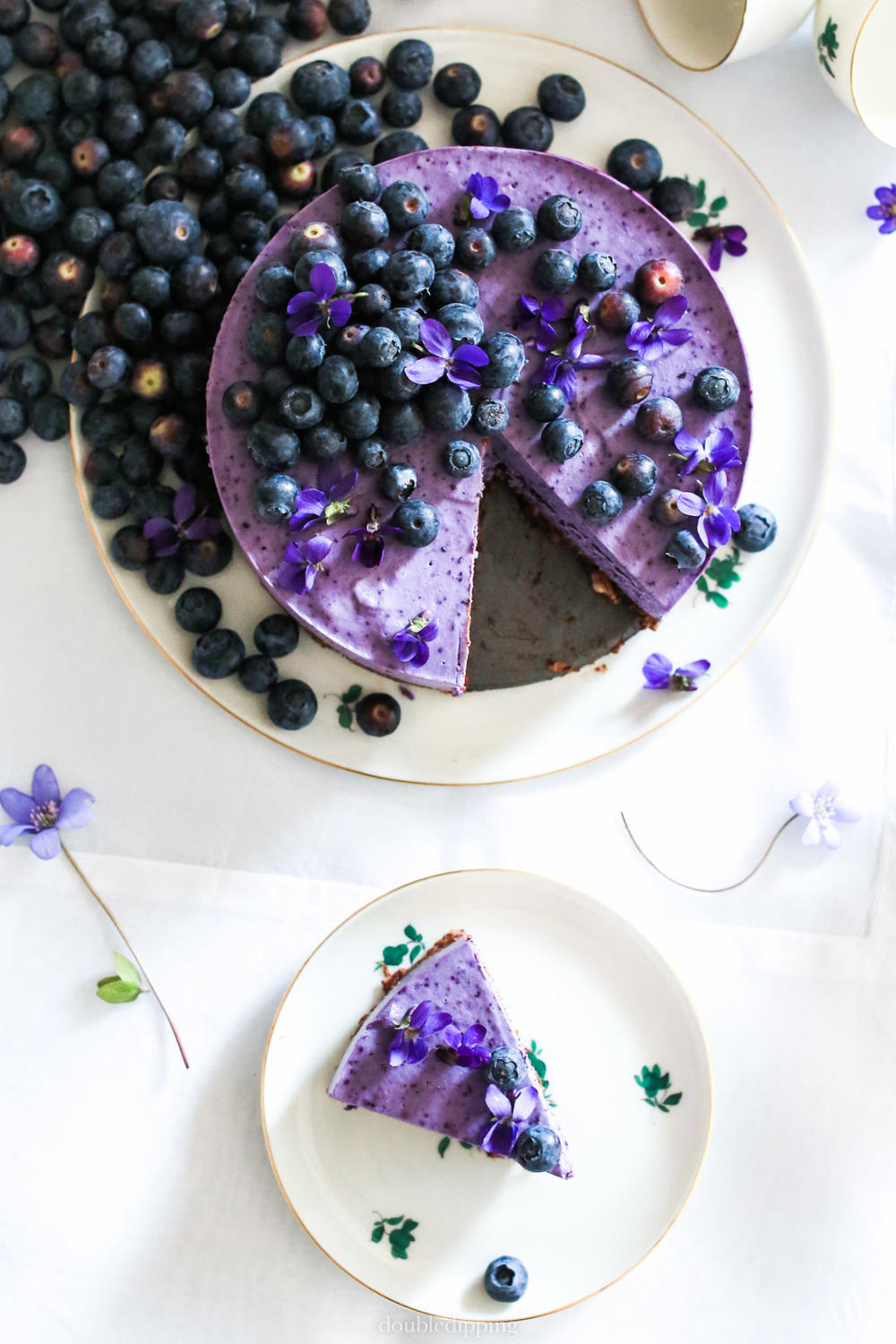 No Bake Blueberry Cake