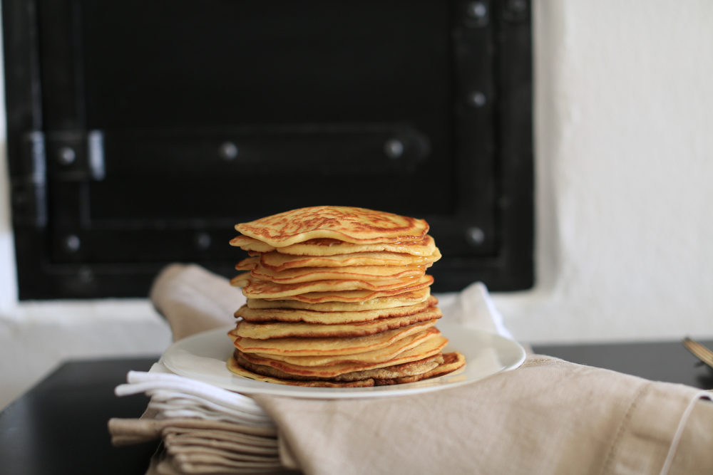 Pancakes with maple sirup