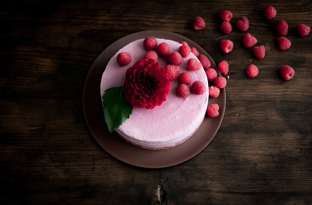 No Bake Raspberry