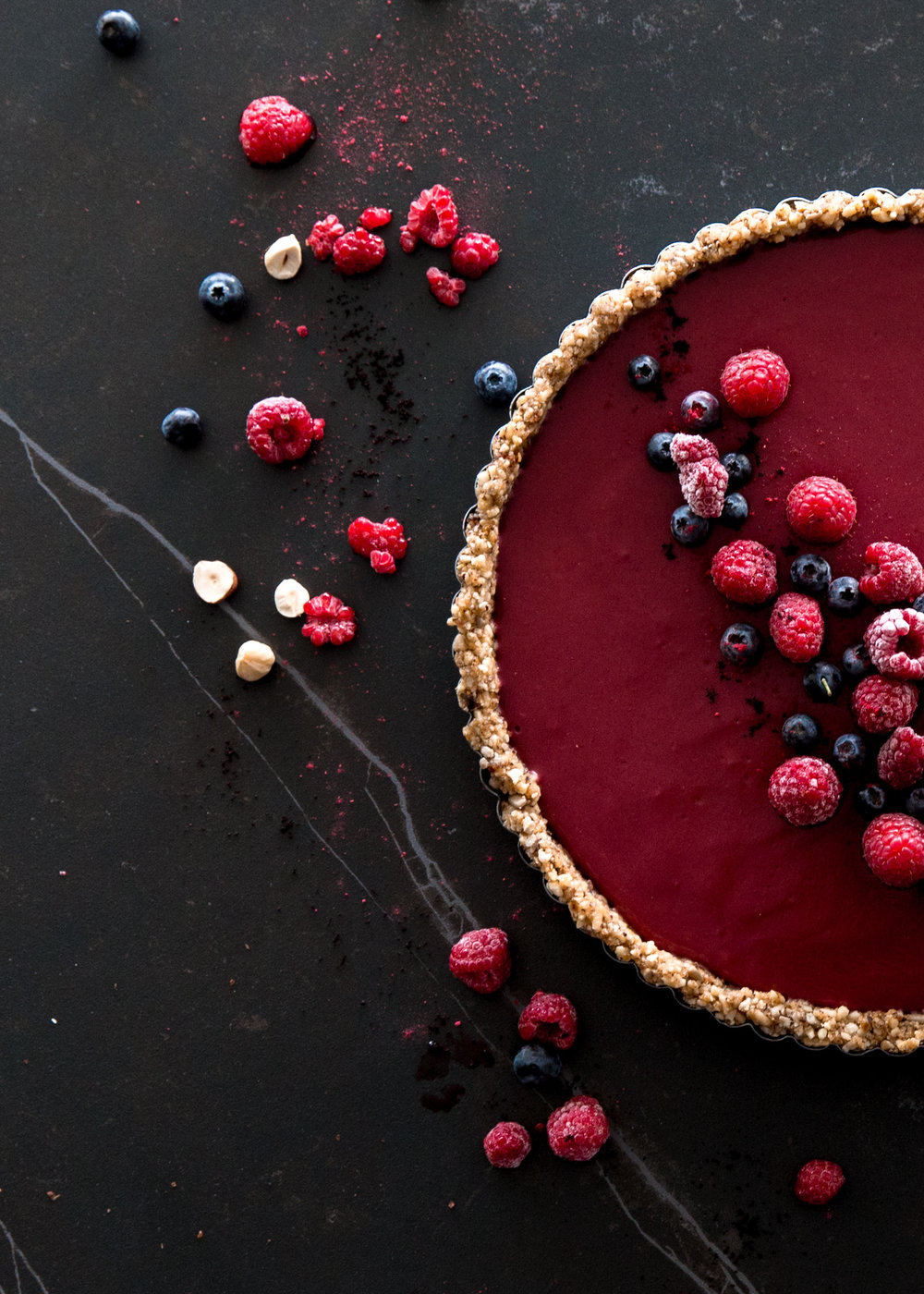 vegan berry tart