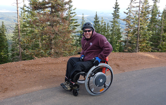 Dr. House climbed Pike's Peak with his E-motion power assist rims!