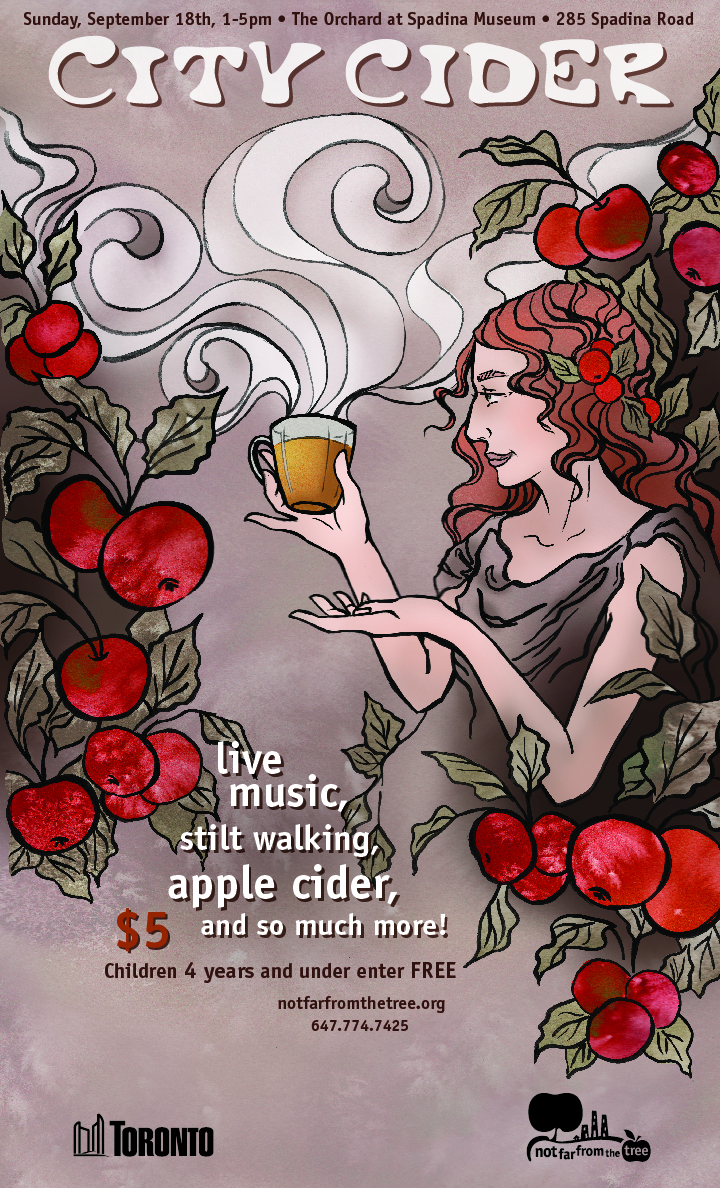 City Cider, Artwork By  Lindsay Campbell