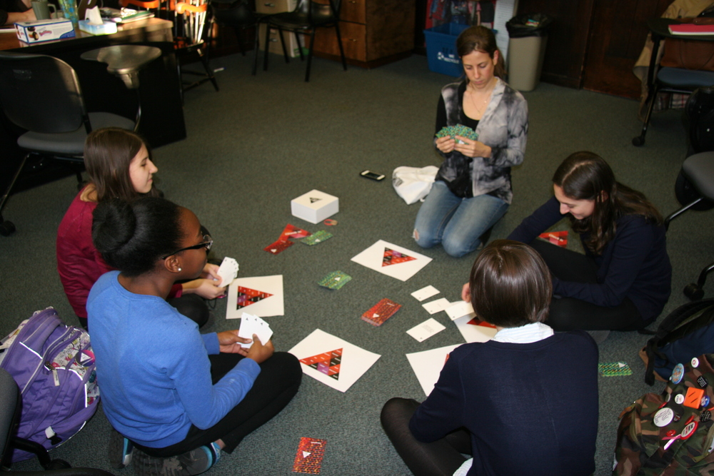 Playtesting Say No More with UN girl Up! Group