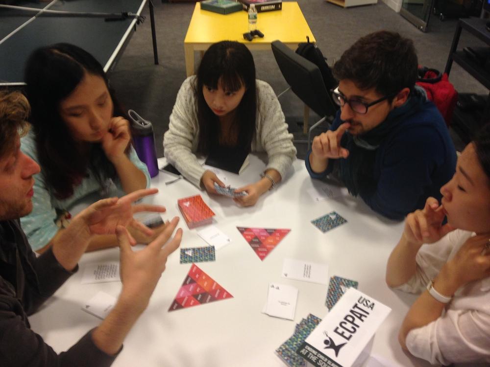 Playtesting Say No More at NYU Magnet (2014)
