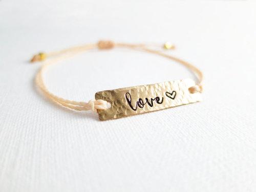 Custom Hand Stamped Bar Bracelet