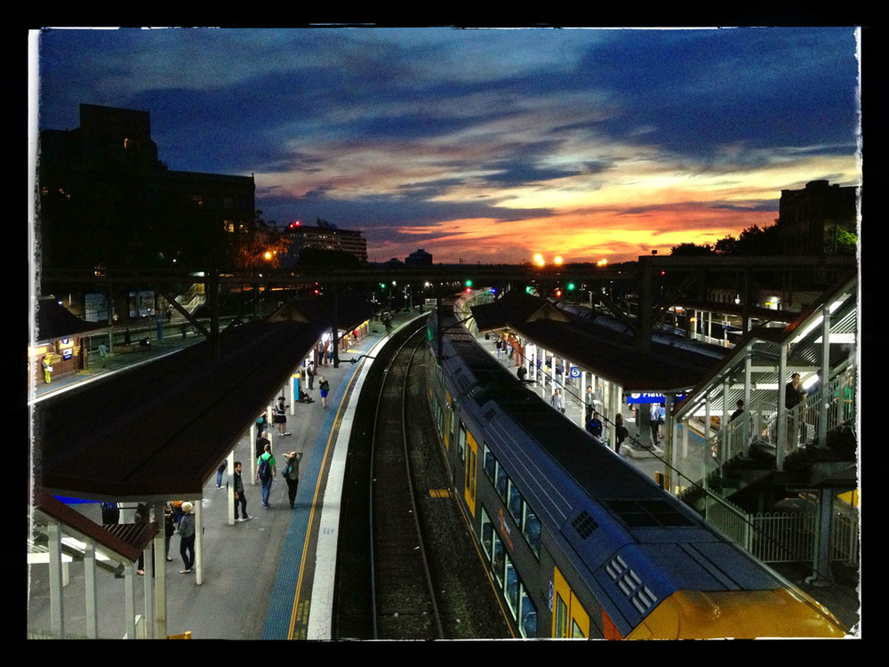 Sunset, Redfern Station
