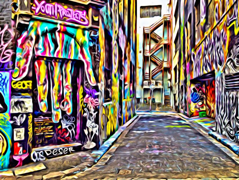 Melbourne Laneway apped