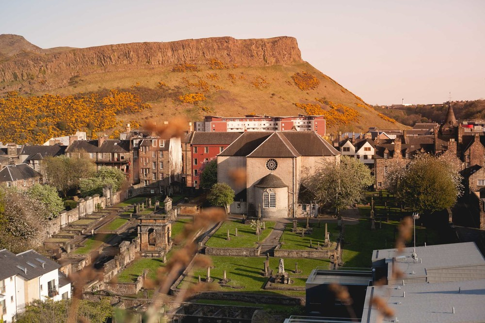 Arthur's Seat, an acient volcano and the highest of Edinburgh's seven hills