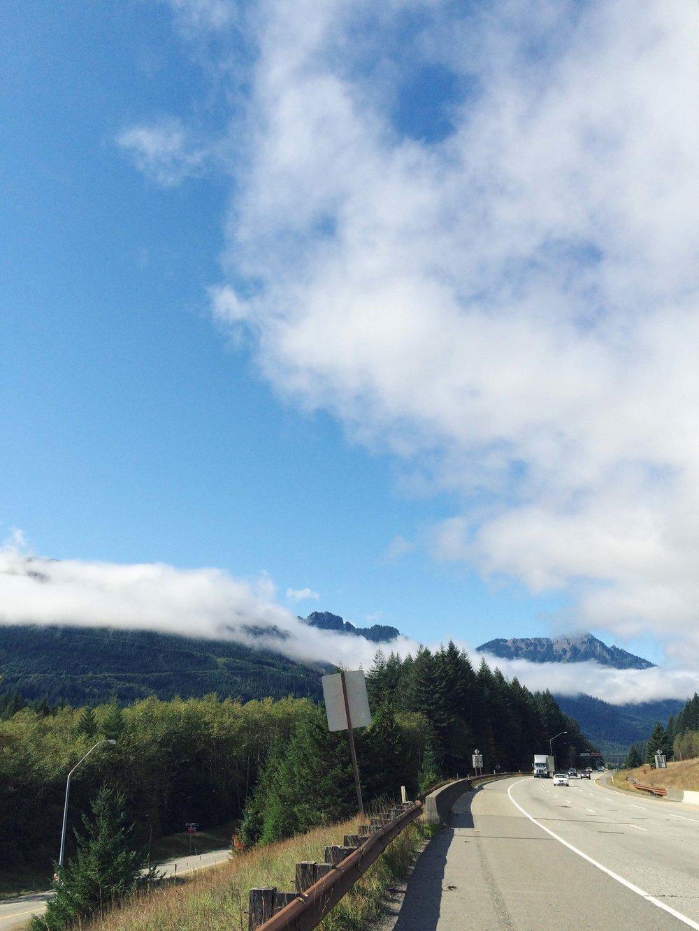 Highway 90 through the Cascade Mountians