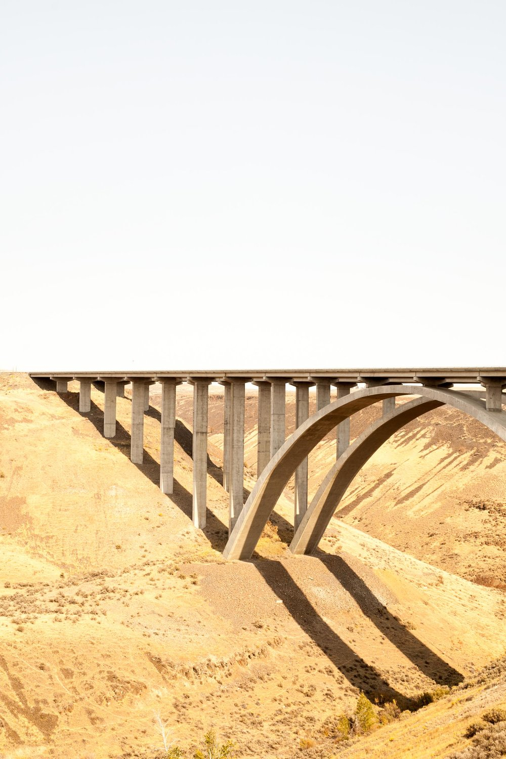 "Selah Creek Bridge. 1971 winner of the ""excellence in the use of concrete"" award."