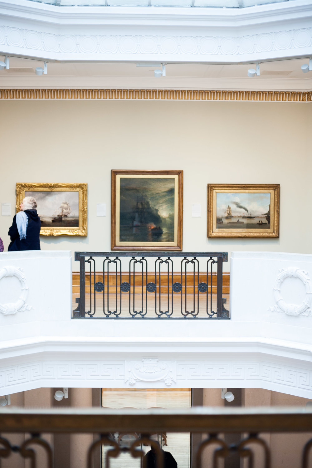 Maritime works (some depicting Hull)hang in the central gallery upstairs.